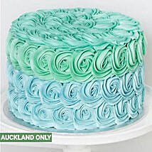 Mini Blue Rosette Cake: Cake Delivery in New Zealand