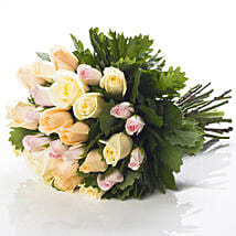 Pastel Rose Bouquet: Flower Delivery in New Zealand
