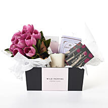 Seasonal Flowers N Chocolate Gift Hamper