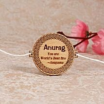 Quoted Personalized Engraved Rakhi: Rakhi Delivery in Norway