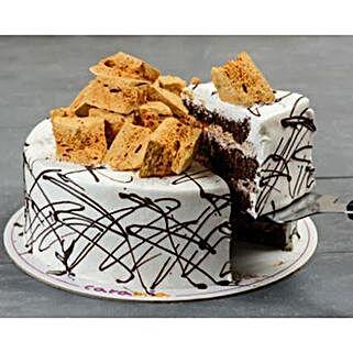 Delicious Coffee Honeycomb Cake