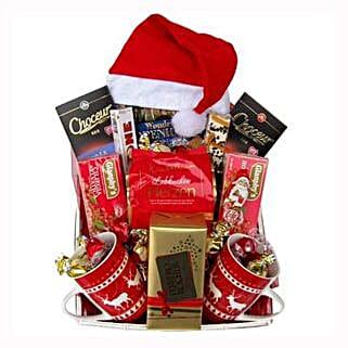 Santa Christmas Tea Basket: Gift Delivery in Poland