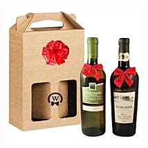 Classic Dual Italian Wines: Gifts Delivery in Portugal