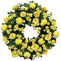 Contemporary Wreath qat: Funeral Flower Delivery in Qatar