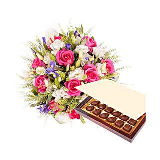 Princess Pink with Chocolates: Send Bhai Dooj Gifts to Qatar