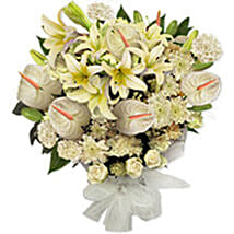 White Frost qat: Condolence Flower Delivery in Qatar