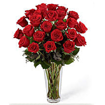 24 Red Roses Arrangement: Christmas Gifts in Saudi Arabia