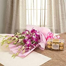 Orchids N Chocolates: Birthday Flower Delivery In Saudi Arabia