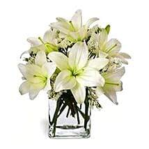 Casablanca Lilies in Vase: Lilies to Singapore