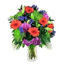 Mix Bouquet in Vase: Lilies to Singapore