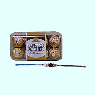 Rakhi And Ferrero Rocher Combo: Rakhi Delivery in Singapore
