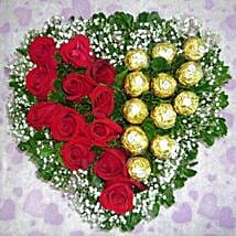 Roses with Ferrero: Flowers & Chocolates to Singapore