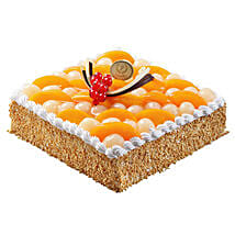 Savory Peach and Longan Cake: Mother's Day Cake Delivery in Singapore
