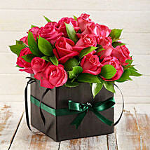 Cerise Roses in a Box: Birthday Flower Delivery in South Africa
