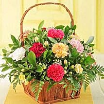 Mixed Carnations in a Basket: Christmas Gifts to South Africa