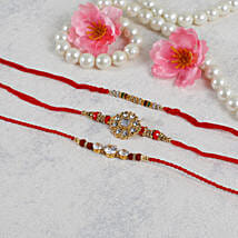 American Diamond Rakhi Set: Send Rakhi to Sweden