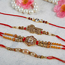 Veera Rakhi Set with Designer Rakhis: Rakhi Delivery in Sweden