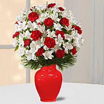 Alstromeria N Carnations: Send Flowers to UAE