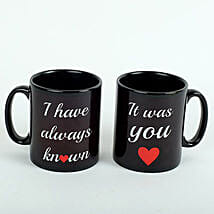 Black Love Mugs: Valentine's Day Gift Delivery in UAE