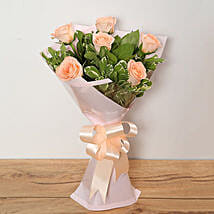 Bouquet Of Peach Roses: Send Flowers to UAE