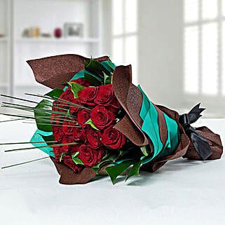 Fresh Red Rose Bouquet: Valentine Flower Bouquets to UAE