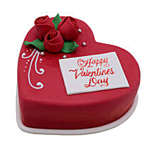 Heart Shaped Valentine Cake 1Kg: Valentine's Day Gift Delivery in UAE