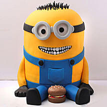 Lovable Minion With A Burger Cake 3 Kg: Designer Cakes in UAE