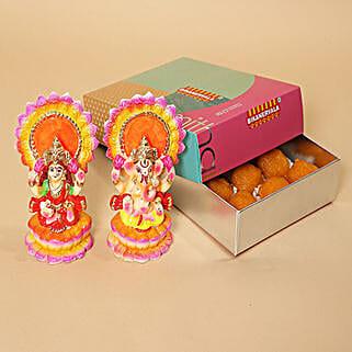 Motichoor Laddoo and Idols Combo: Send Diwali Gifts to UAE