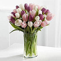 Painted Skies Tulip Bouquet: Romantic Gifts to Dubai, UAE