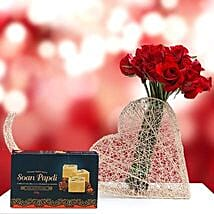 Sweet and Romantic Gift Combo: Mother's Day Flower and Sweets to UAE