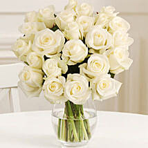 24 Fairtrade White Roses: Send Gifts to Birmingham