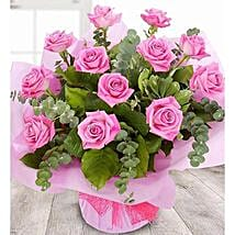 A Dozen Pale Pink Roses: Valentine's Day Gift Delivery in UK