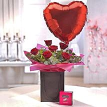 Be Mine Chocolate and Balloon Gift Set: Chocolate Delivery in London UK