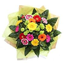 Bright Gerbera Delight: Flower Bouquet Delivery UK