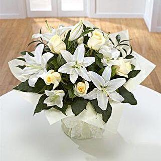 Diamond Birthstone Bouquet: Sympathy N Funeral Flowers UK