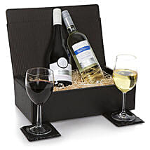 French Two Bottle Wine Selection: Christmas Gift Hampers to UK