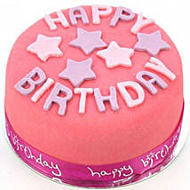 Happy Birthday Pink Cake: Order Cakes to UK