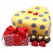 Hearts And Dots Cake Gift: Send Cakes Oxford