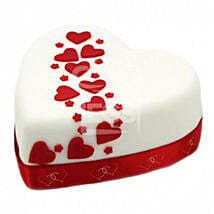 Hearts And Stars Cake: Cake Delivery UK