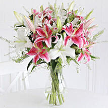 Mixed Lilies: Flower Bouquet Delivery UK