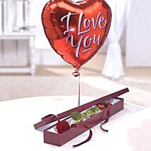 Perfection Balloon Gift Set: Valentine Flower Delivery in UK