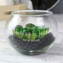 Personalised New Home Glass Terrarium: Send Gifts to Cambridge