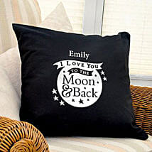 Personalized Love Dovey Cushion Coverblack: Gifts to Glasgow