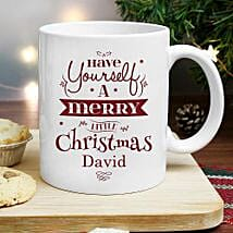 Special Personalized Merry Christmas Mug: Personalised Mugs to UK