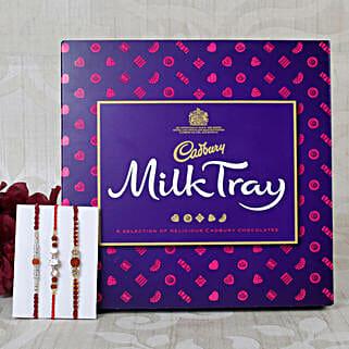 Three set Cadbury Rakhi Hamper: Rakhi With Chocolates UK