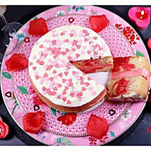 Valentines Strawberry Swirl Cake: Cakes to Edinburgh