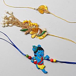 Vibrant And Festive Rakhi Set For Family: