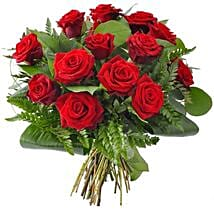 12 Red Roses: Flower Delivery in USA