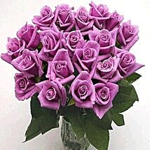 25 Long Stem Lavender Roses: Flower Bouquets to USA