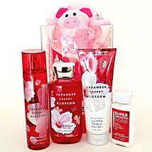 Bath And Body Works Japanese Cherry Blossom Gift Set: Rakhi Gifts for Sister in USA